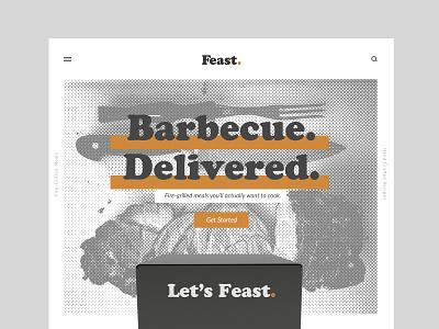 Feast Website halftone comp ux ui restaurant branding brand logo identity food website web design design subscription