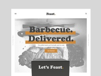 Feast Website halftone comp ux ui restaurant branding brand logo identity food website web design design subscription