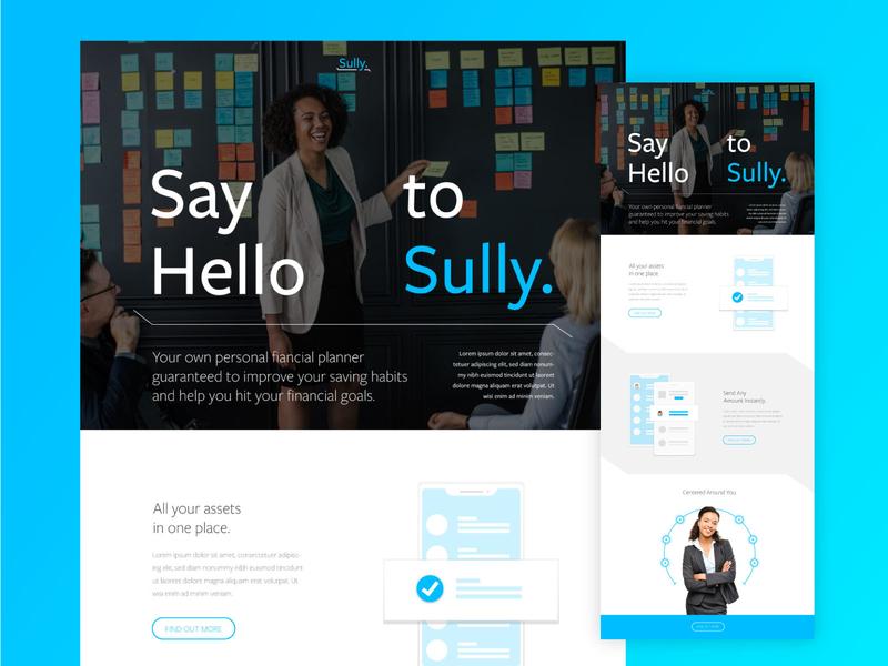 Sully - Your Money Saving Pal. fintech brand ai wip concept tech design startup technology tech identity branding ux ui design web website web design