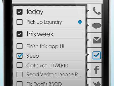Lockscreen - Task ui app iphone tasks