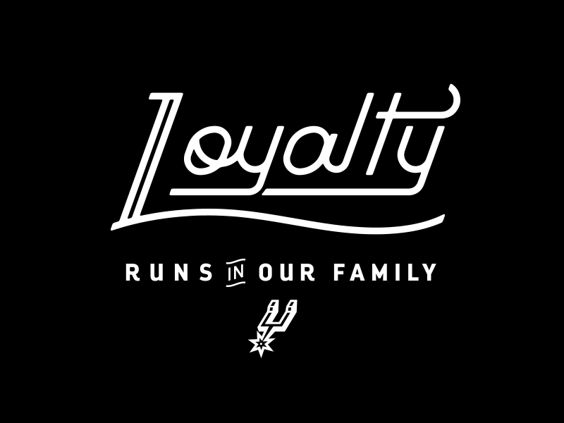 Spurs heritage loyalty lettering