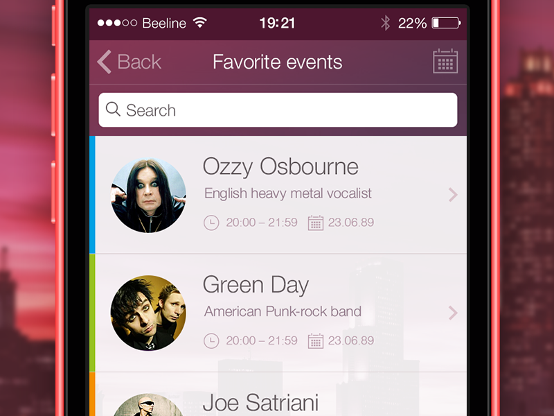 Eventsmap — Events searching application (Concept) mobile app events ui ux ios flat