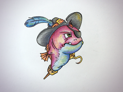Pirate Fish (hand drawn)