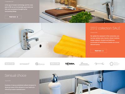 Plumbing store flat ux ui site design web clean plumbing shop