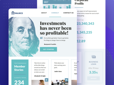 Financial Company Wordpress Template