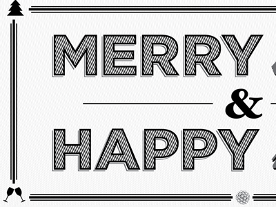Christmas Card xmas black white christmas new years merry happy grey