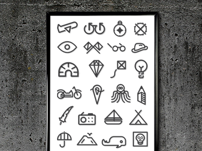 Alphabet Poster poster icon design print graphic design iconography