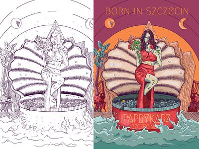 Born in Szczecin vector poland szczecin illustration