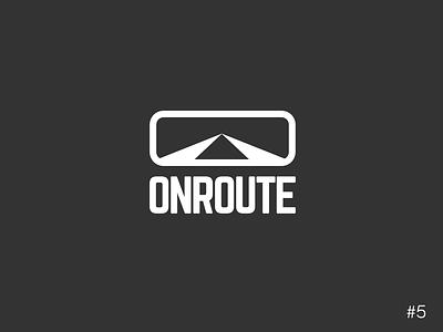 5/50 Daily Logo Challenge | Driverless Cars - Onroute car vector icon affinity logo design dailylogochallange branding