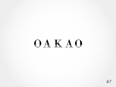 7/50 Daily Logo Challenge | Fashion Wordmark - Oakao brand fashion wordmark typography vector design dailylogochallange branding