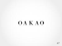 7/50 Daily Logo Challenge | Fashion Wordmark - Oakao