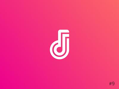 9/50 Daily Logo Challenge | Music Streaming Service - Beatstream brand gradient pink geometric note music icon affinity vector logo dailylogochallange design branding