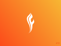 10/50 Daily Logo Challenge | Flame Logo - Flint & Flame