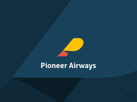 12/50 Daily Logo Challenge | Airline - Pioneer