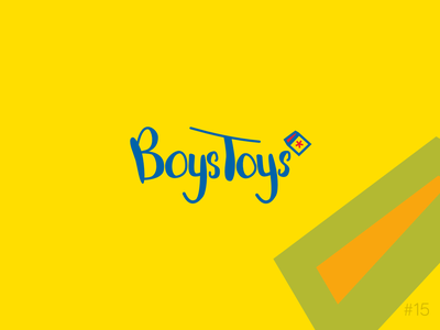 15/50 Daily Logo Challenge | Hand Lettering - Boystoys fun star block toy store yellow blue brand affinity vector logo dailylogochallange design branding hand lettering