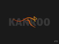 19/50 Daily Logo Challenge | Kangaroo Logo - Kanroo