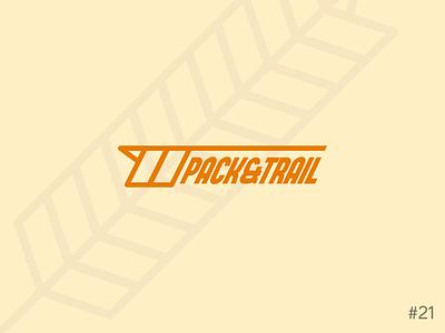 21/50 Daily Logo Challenge | Granola Bar - Pack & Trail orange geometric brand icon affinity vector logo dailylogochallange design branding