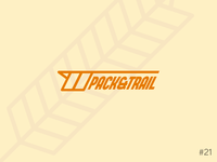 21/50 Daily Logo Challenge   Granola Bar - Pack & Trail