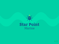 23/50 Daily Logo Challenge | Boat Logo - Star Point Marine