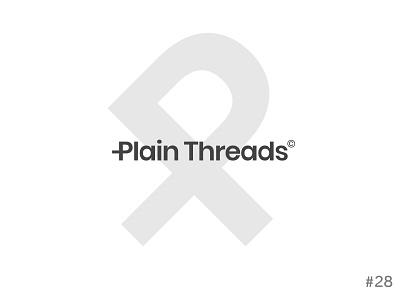 28/50 Daily Logo Challenge | Clothing Brand - Plain Threads 2850 plain threads blackandwhite geometric affinity icon vector daily logo challenge dailylogochallenge logo design logo branding