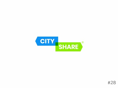 29/50 Daily Logo Challenge | Car Share Company- City Share no29 daily logo challenge city share blue green sign brand vector affinity dailylogochallange design logo branding