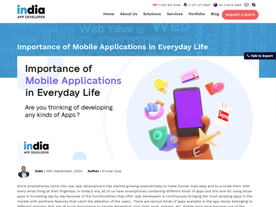 Importance of Mobile Applications in Everyday Life
