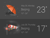 Weather widget design for Tapas OS