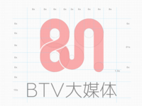 BTV大媒体 logo design