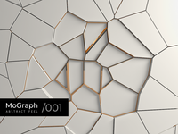 Mograph Abctract 001 3d art gold white art abstraction abstract branding design clean cinema4d 3d illustration