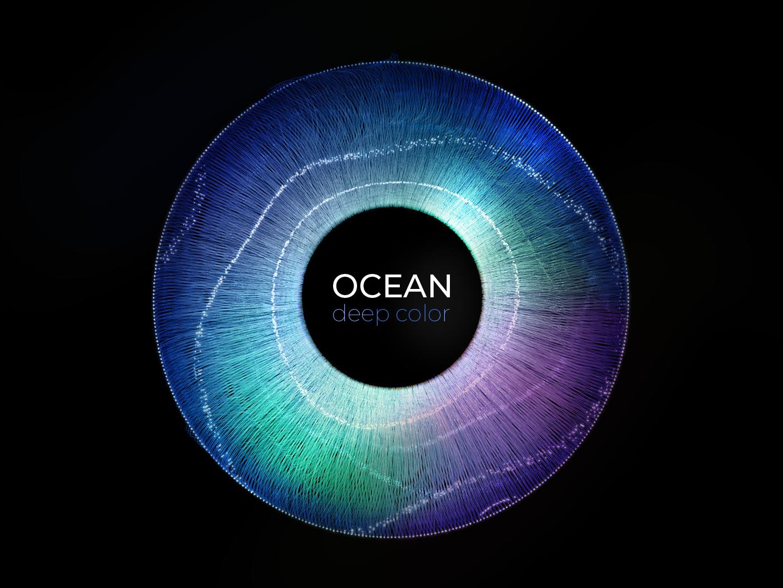 Ocean 3d art illustration color