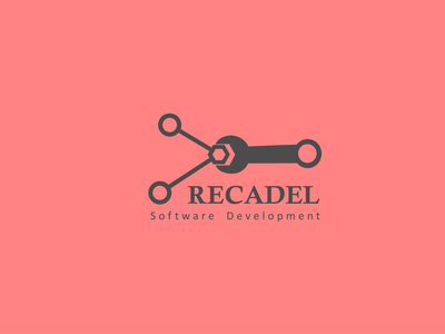 Recadel; Software Development Company software development company software logo minimalist logo vector branding flat minimalist modernlogo modern logodesign design logo