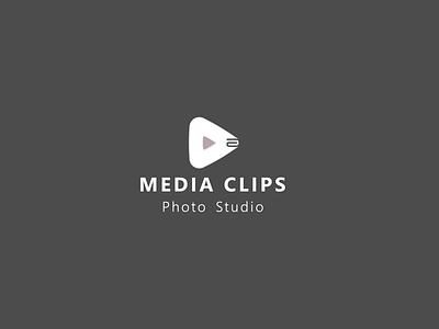 Media Clips Company logo Design vector branding design minimalist logodesign minimalist logo minimal modern logo media clips logo logos logo logo design