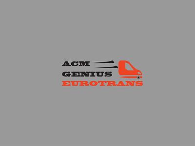 ACM Genius Eurotrans Logo Design logodesign flat vector minimal design branding illustrator graphic design logo design logo modern logo transport logo