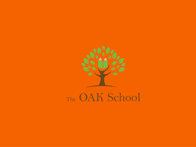 Oak School Logo visual identity logos vector logodesign illustrator minimalist logo branding logo design design logo modern logo school logo oak logo