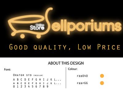 Sellporiums Logo Design logos logodesign branding modern modern logo logo design design logo shining logo neon logo neon sign store logo sellporiums logo