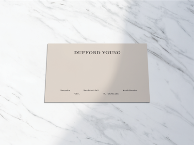Dufford Young Stationery Exploration stationery design stationery type branding typography identity logo brand development