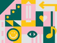 Old Chicora School — Pattern + Icons Exploration icon mark charleston vector design illustration branding identity brand development