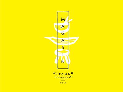 Magasin Kitchen Outtakes new orleans illustration restaurant branding identity logo