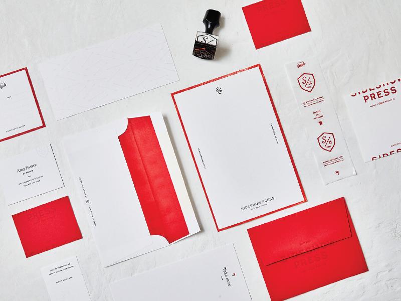 Sideshow Press Identity stationery brand development identity print
