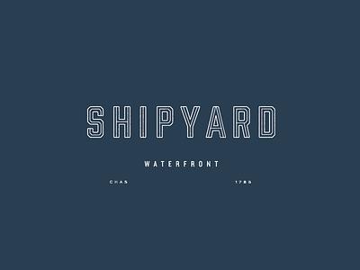 Shipyard shipyard typography type custom lettering logo brand development