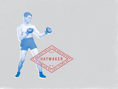 Haymaker boxer tomato restaurant design logo branding