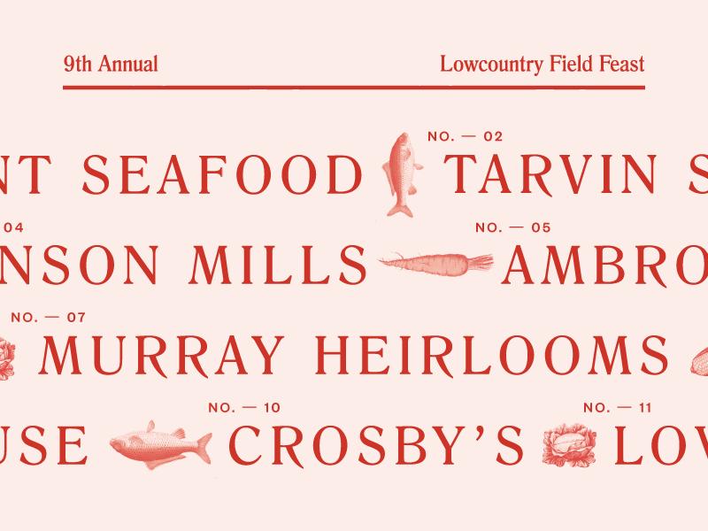 Field Feast Menu Design