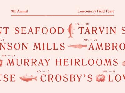 Field Feast Menu Design feast fish typography type menu design