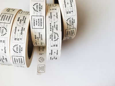 Masking Tap typography paper company tape postage brand development