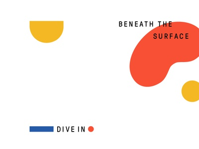 Beneath the Surface sub-graphic shapes photography tagline