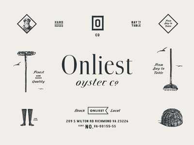 Onliest Oyster Co. boots illustration oysters typography logo brand development