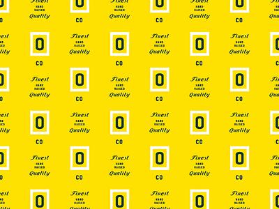 Onliest Pattern yellow o oysters branding pattern
