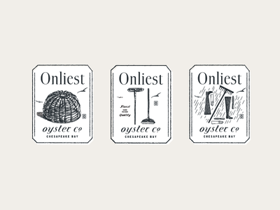 Oyster Tags boots brand development print identity oysters