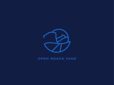 Open Roads Vans roads explore el capitan mountains logo brand development