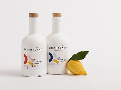 Brightland Packaging shapes lemon powder coating california packaging